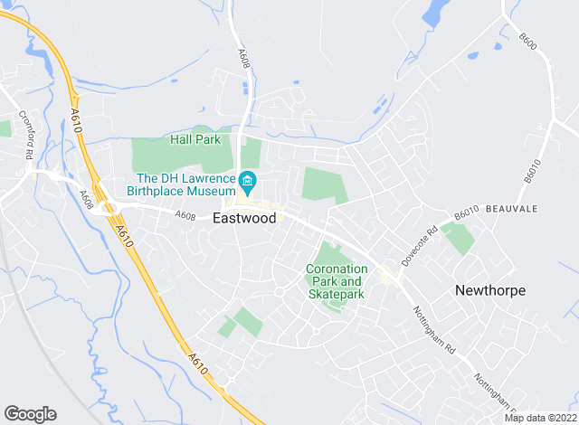 Map for Freckleton Brown, Eastwood
