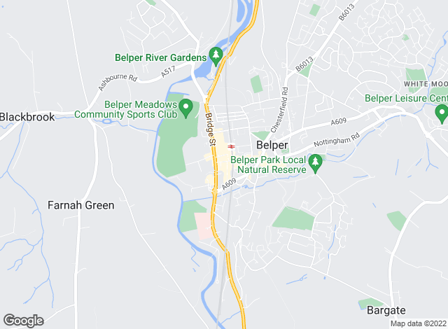 Map for Hall and Benson , Belper - Lettings