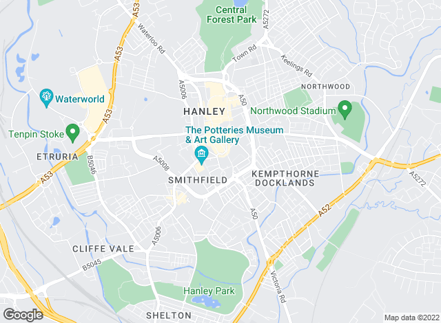 Map for Daniel & Hulme, Hanley