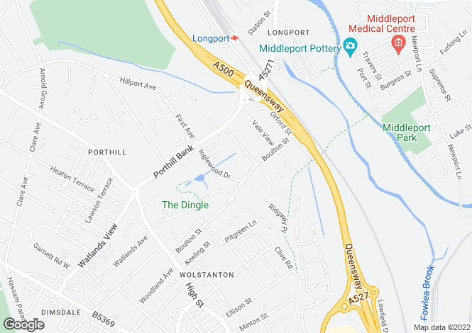 Map for Justin Close, Porthill, Newcastle-under-Lyme