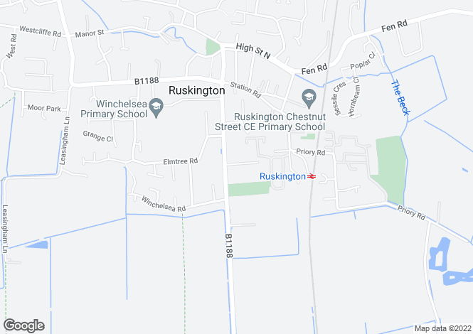 Map for Sleaford Road, Ruskington, NG34
