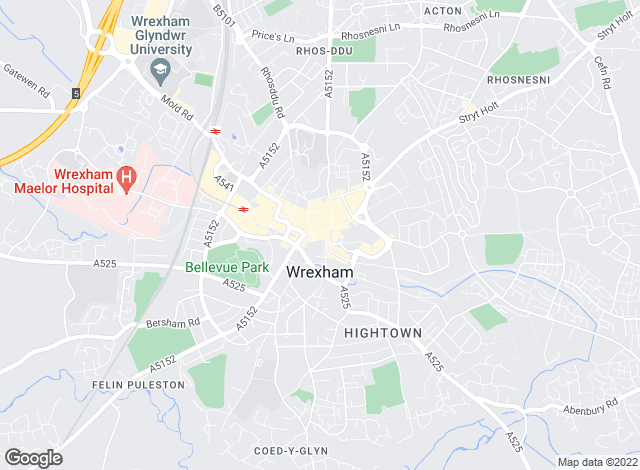Map for Jones Peckover, Wrexham