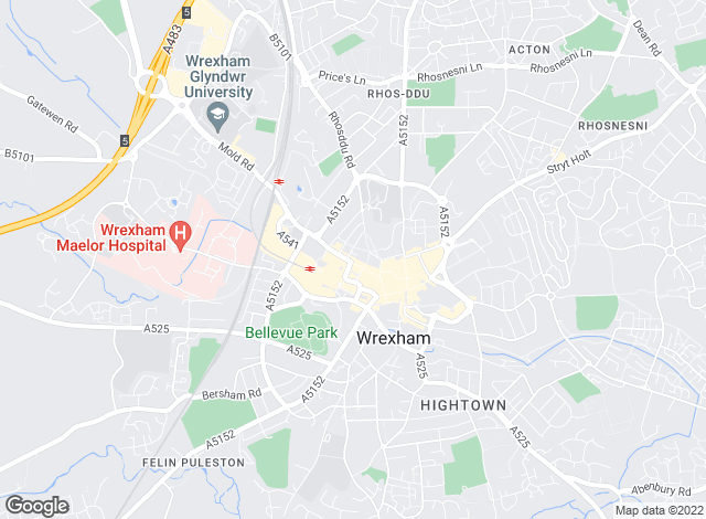 Map for Peter Alan, Wrexham