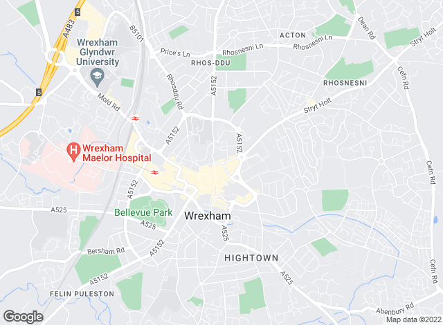 Map for Wingetts, Wrexham - Lettings
