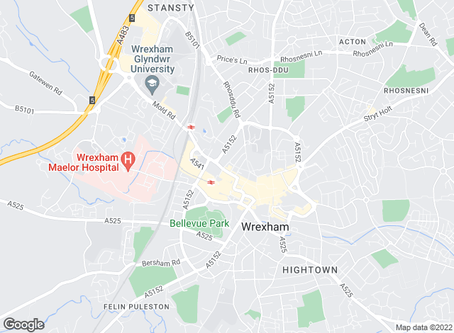 Map for Town & Country Independent Estate Agents, Wrexham