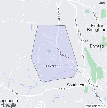 Map of property in Tanyfron