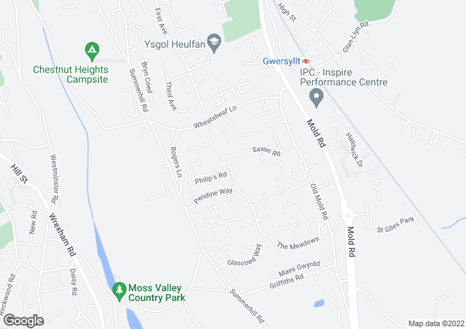 Map for Bickerton Drive,Gwersyllt,Wrexham,LL11