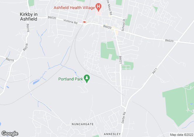 Map for Linnet Close, Kirkby in Ashfield