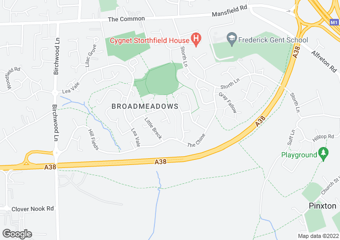 Map for Maple Drive, South Normanton Broadmeadows, Derbyshire