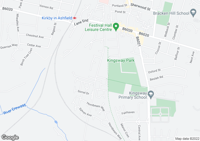 Map for Persimmon Gardens, Lindleys Lane, Kirkby In Ashfield, Nottingham