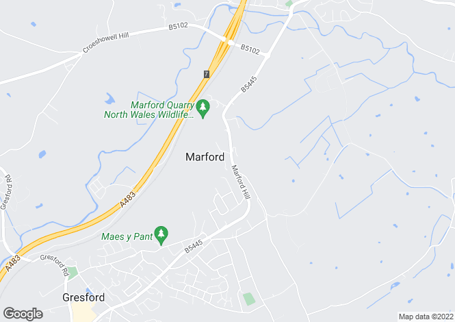 Map for Marford Hill. Marford
