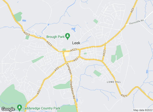 Map for Daniel & Hulme, Leek