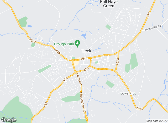 Map for Bury & Hilton, Leek