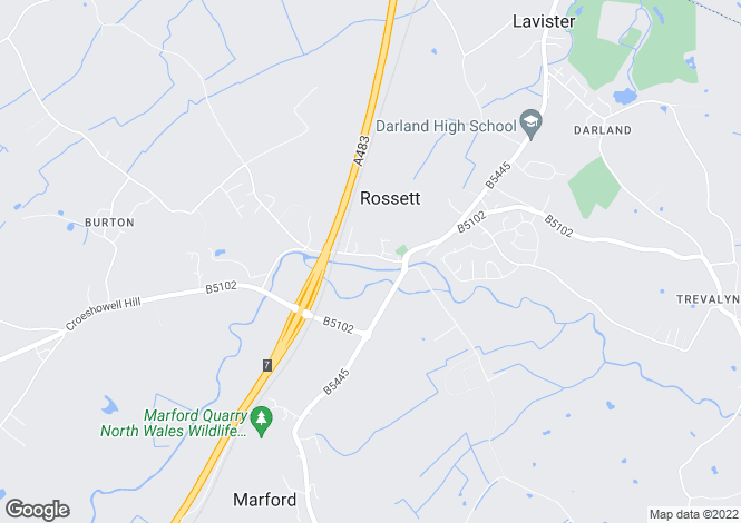 Map for Bassett House, Station Road, Rossett, Wrexham, LL12 0HE