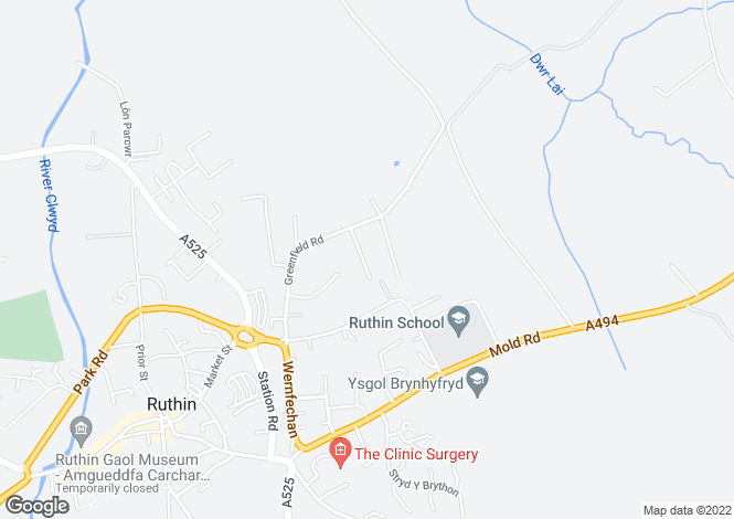 Map for Ruthin