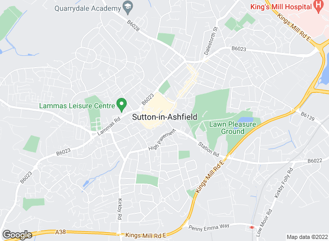 Map for W A Barnes, Sutton in Ashfield