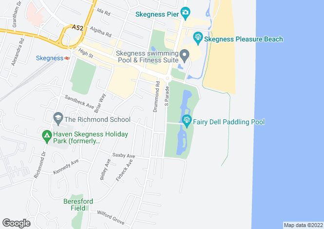 Map for South Parade,