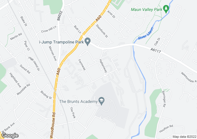 Map for Unit 55 - 57 Block 8, Old Mill Lane, Mansfield Woodhouse, Notts, NG19