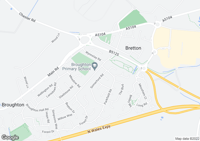 Map for Broughton Hall Road, Broughton, Chester
