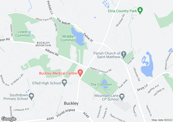 Map for Buckley