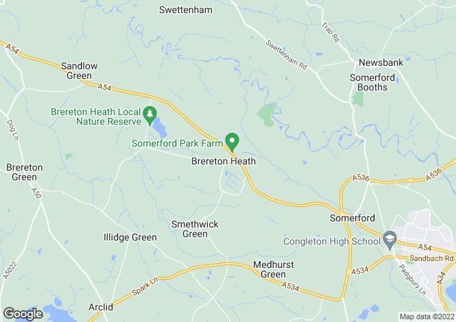 Map for Brereton Heath Lane, Brereton