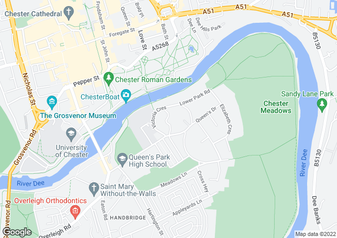 Map for PortHouse, Queens Park, Queens Park, Chester, CH4 7AU