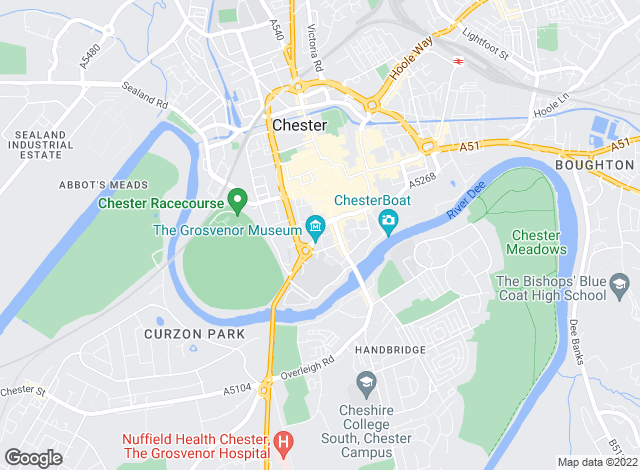 Map for Prescott Hall, Chester
