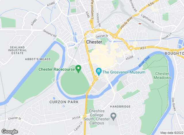 Map for Jackson-Stops & Staff, Chester