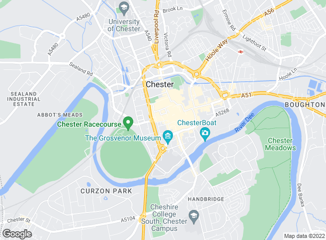 Map for Reeds Rains Lettings, Chester