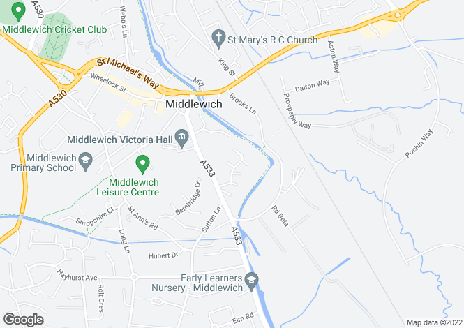 Map for Maidenhills, Middlewich, CW10