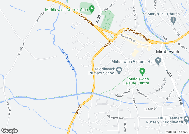 Map for Nantwich Road Middlewich