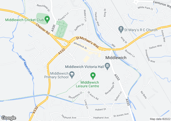 Map for The Elms 8 Southway Middlewich