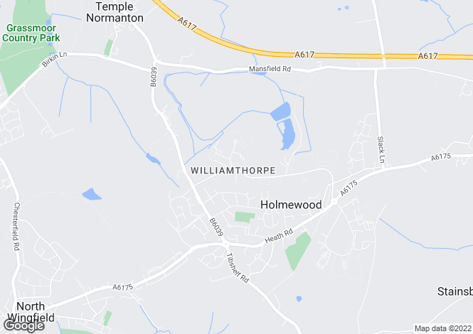 Map for Tupton Way, Holmewood, CHESTERFIELD