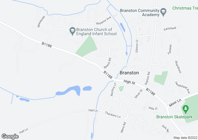 Map for 39a  & 39b Lincoln Road, Branston, Lincoln, LN4