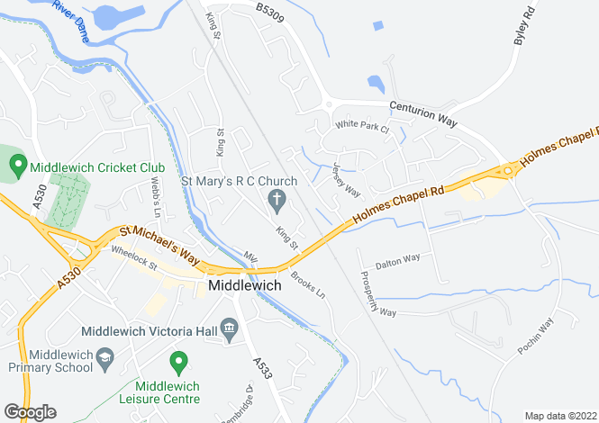 Map for Regency Walk, Middlewich CW10
