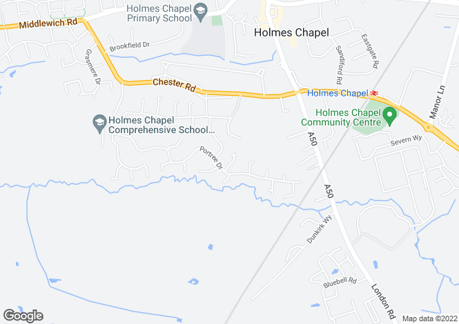Map for Glenorchy Close, Holmes Chapel CW4