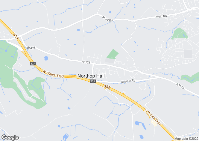 Map for Elm Drive, Northop Hall, Northop Hall