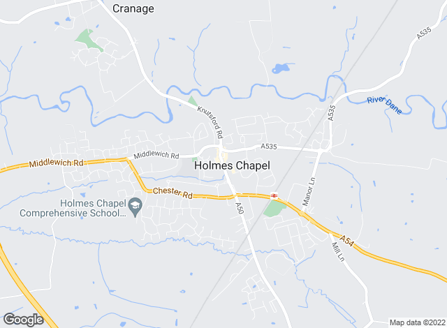 Map for Entwistle Green, Holmes Chapel