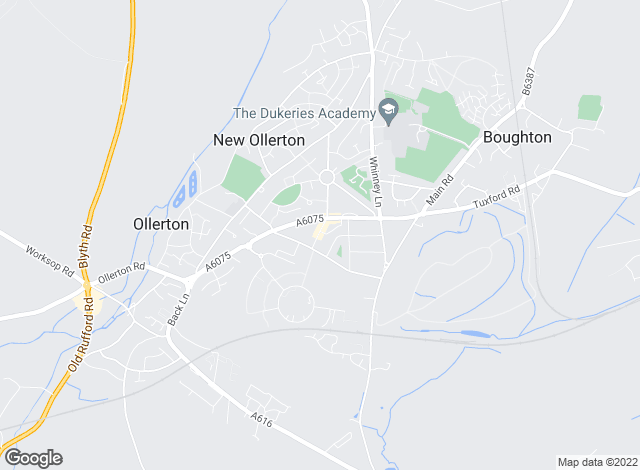 Map for Gascoines, New Ollerton