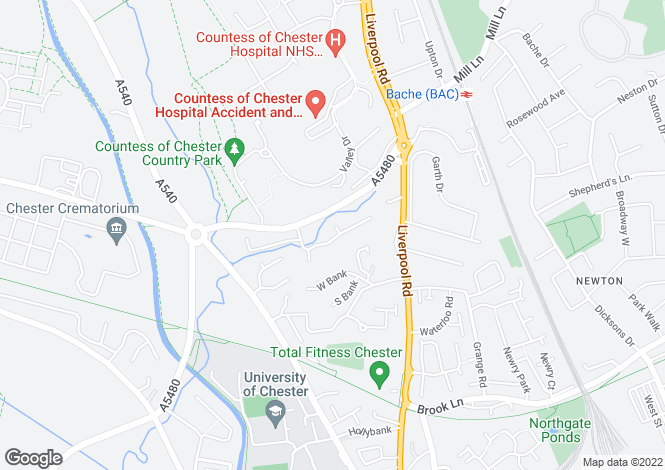 Map for Chester