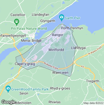 Map of property in Bangor