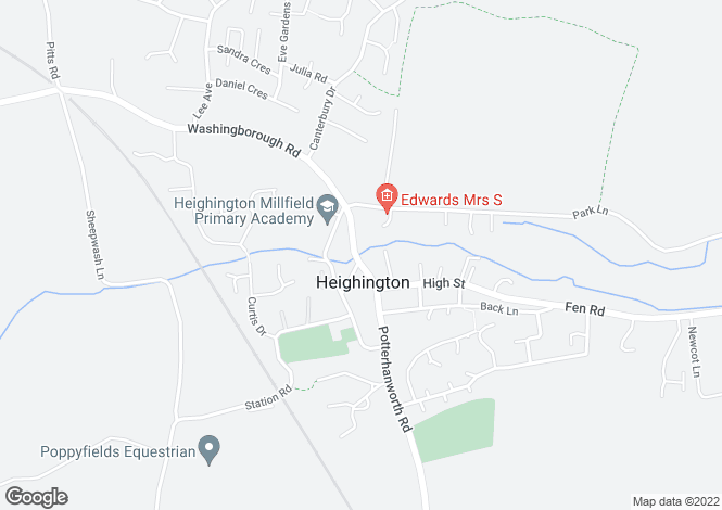 Map for High Street, Heighington, Lincoln, Lincolnshire, LN4