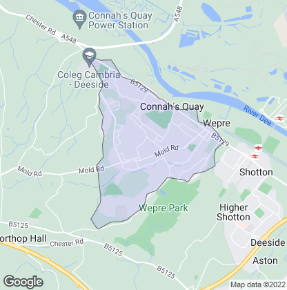 Map of property in Connah's Quay