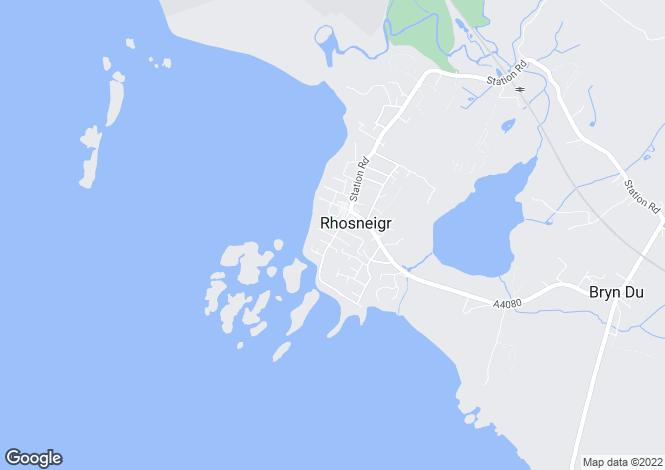 Map for Rhosneigr, Anglesey
