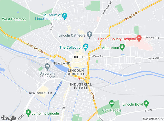 Map for Walter's, Lincoln - Lettings