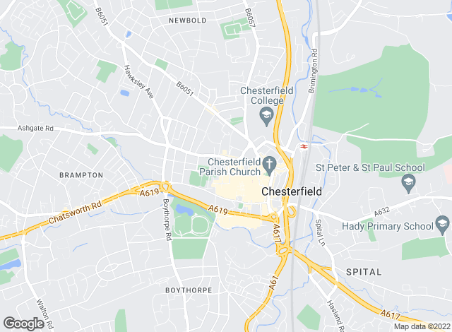 Map for Blundells, Chesterfield