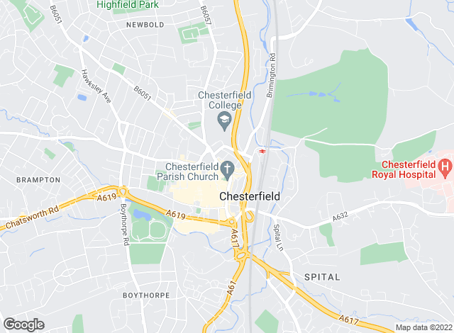 Map for Sell & Save, Chesterfield