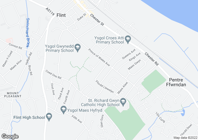 Map for Borough Club, Flint, Flint, Clwyd, CH6