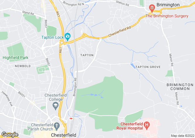 Map for Paxton Road, Tapton, Chesterfield, Derbyshire