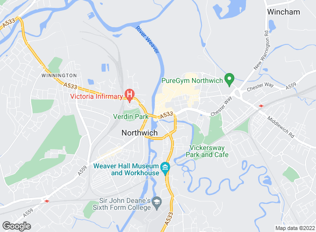 Map for Entwistle Green, Northwich